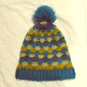 Isis multicolor beanie with pom
